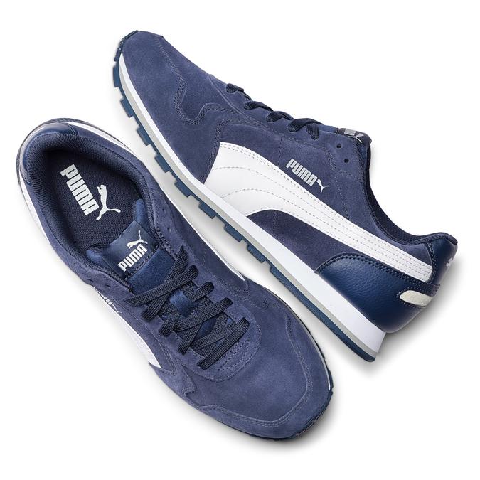 Childrens shoes puma, Bleu, 803-9982 - 19