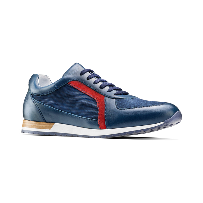 Men's shoes bata, Bleu, 844-9142 - 13