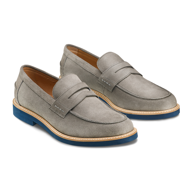 Men's shoes bata-light, Gris, 813-2163 - 16