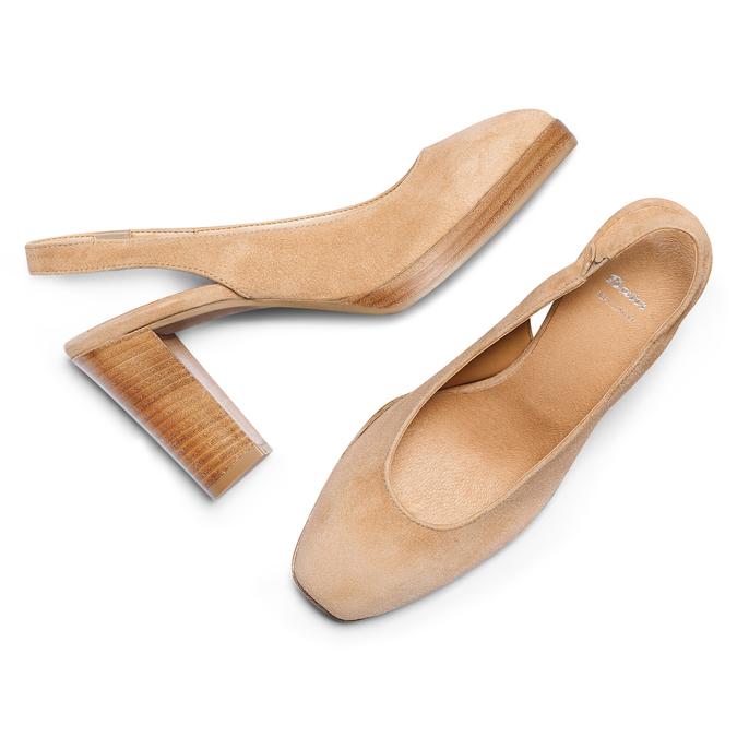 Women's shoes bata, Jaune, 723-8188 - 26