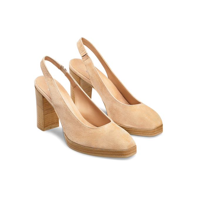 Women's shoes bata, Jaune, 723-8188 - 16