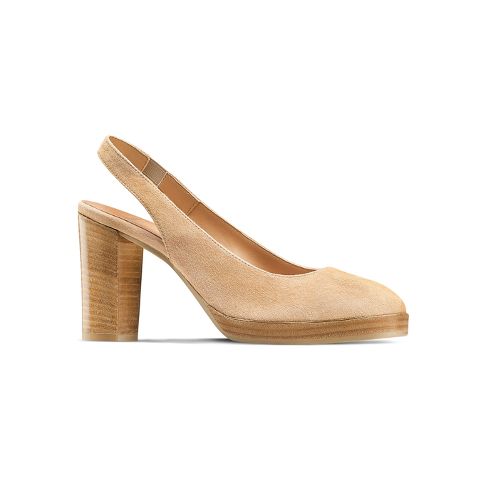 Women's shoes bata, Jaune, 723-8188 - 13