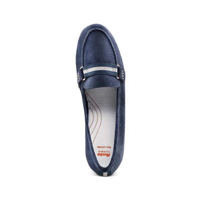 Women's shoes flexible, Bleu, 513-9150 - 17
