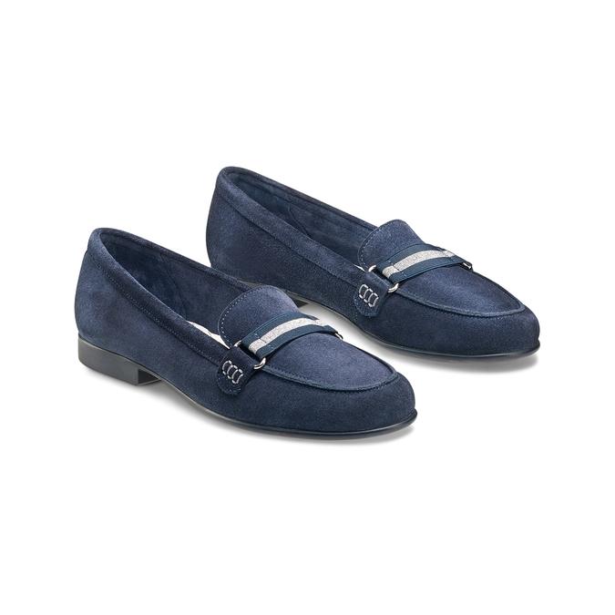 Women's shoes flexible, Bleu, 513-9150 - 16