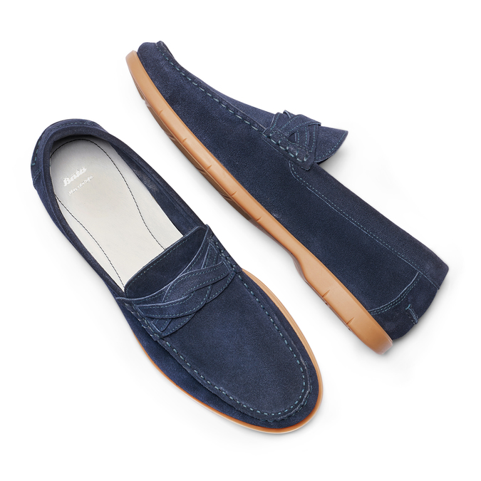 Men's shoes bata, Bleu, 853-9143 - 26
