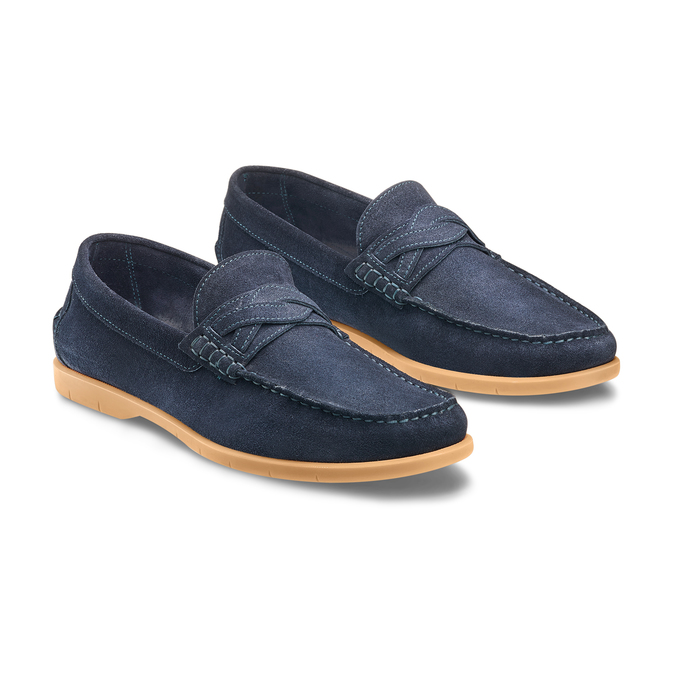 Men's shoes bata, Bleu, 853-9143 - 16