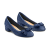 Ballerine en cuir à nœud bata, Bleu, 523-9420 - 16
