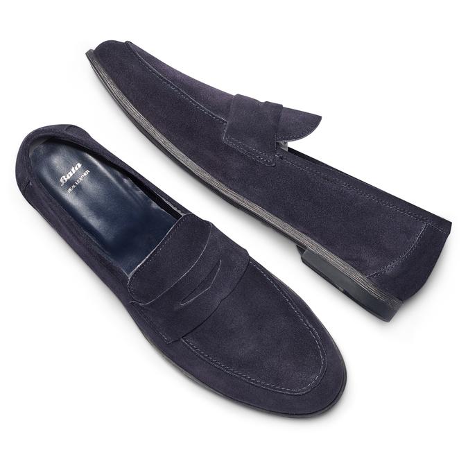 Men's shoes bata, Bleu, 853-9129 - 26