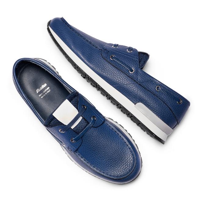 Men's shoes bata, Bleu, 844-9399 - 26