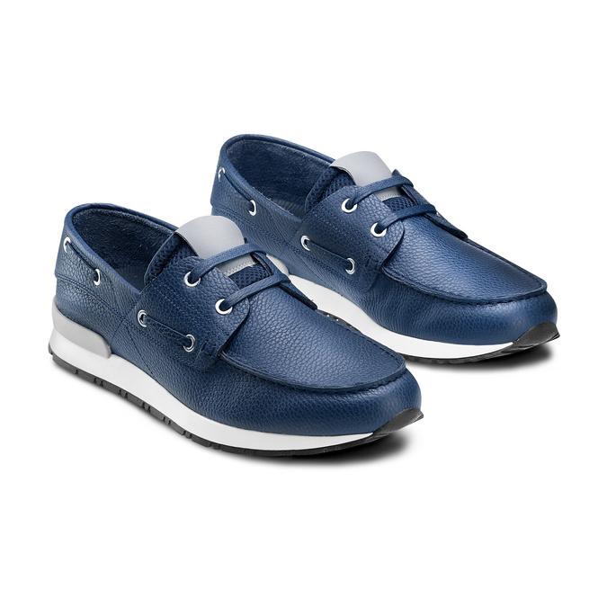 Men's shoes bata, Bleu, 844-9399 - 16