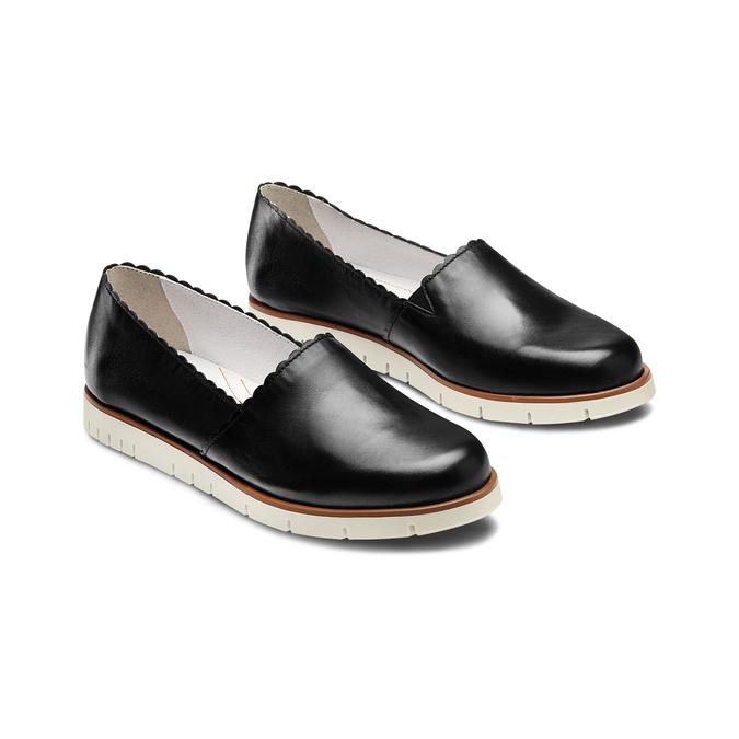 Women's shoes flexible, Noir, 514-6148 - 16