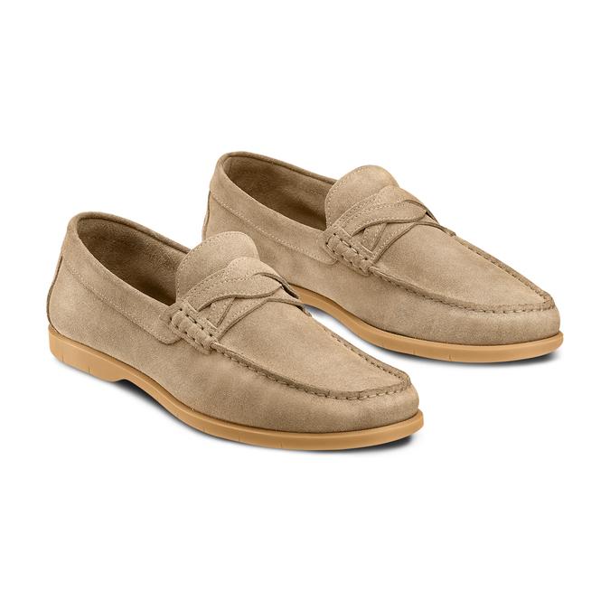 Men's shoes bata, Jaune, 853-8143 - 16