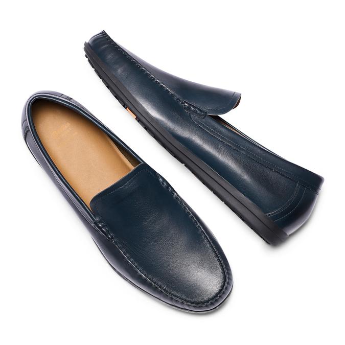Men's shoes flexible, Bleu, 854-9128 - 26