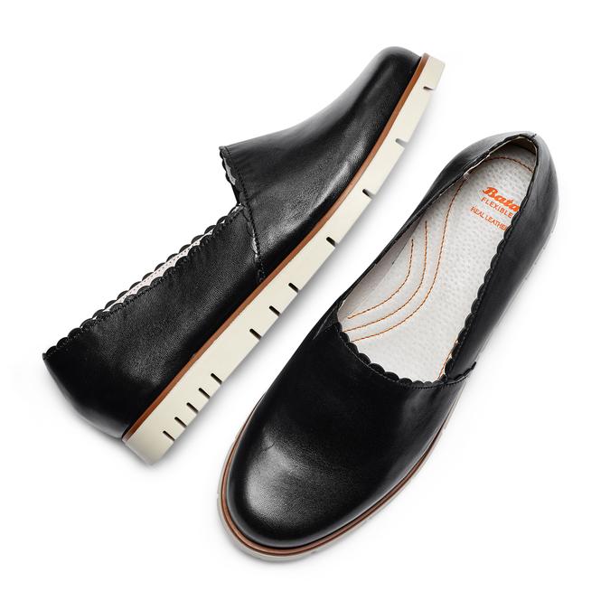 Women's shoes flexible, Noir, 514-6148 - 26