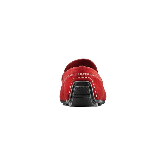 Mocassin en cuir bata, Rouge, 853-5180 - 15