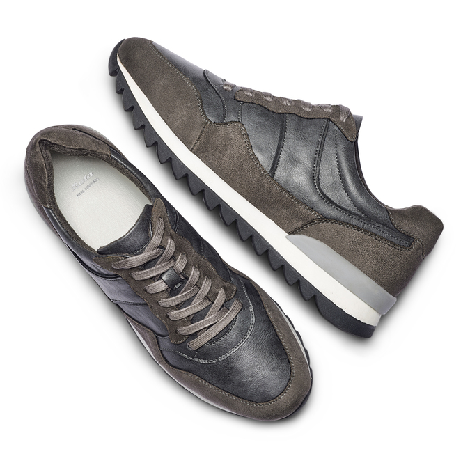 Men's shoes bata, Gris, 841-2738 - 26