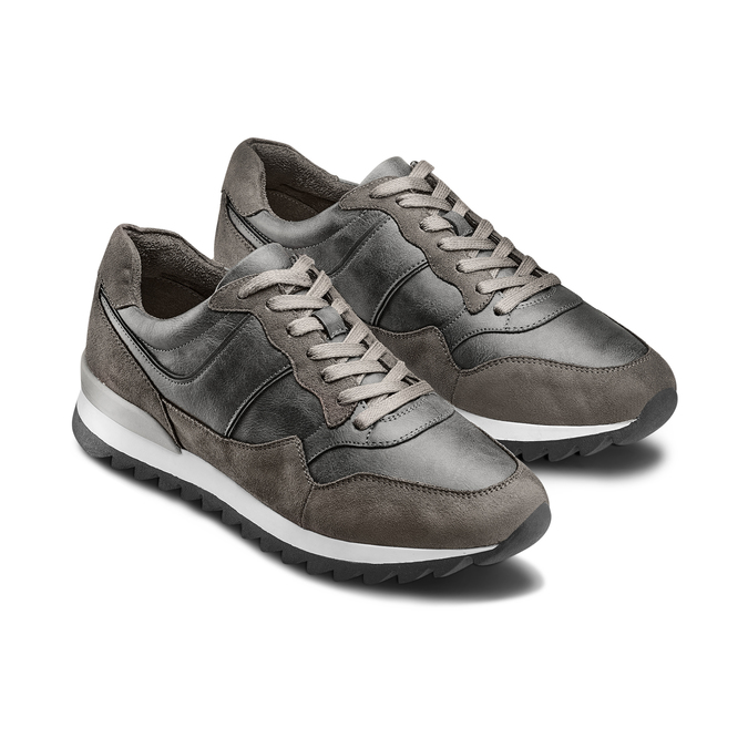Men's shoes bata, Gris, 841-2738 - 16