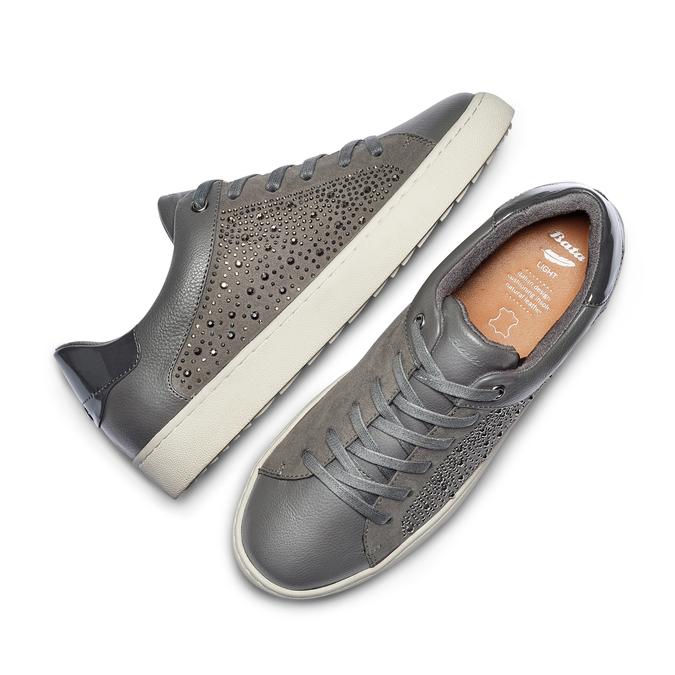 Women's shoes bata-light, Gris, 549-2180 - 26
