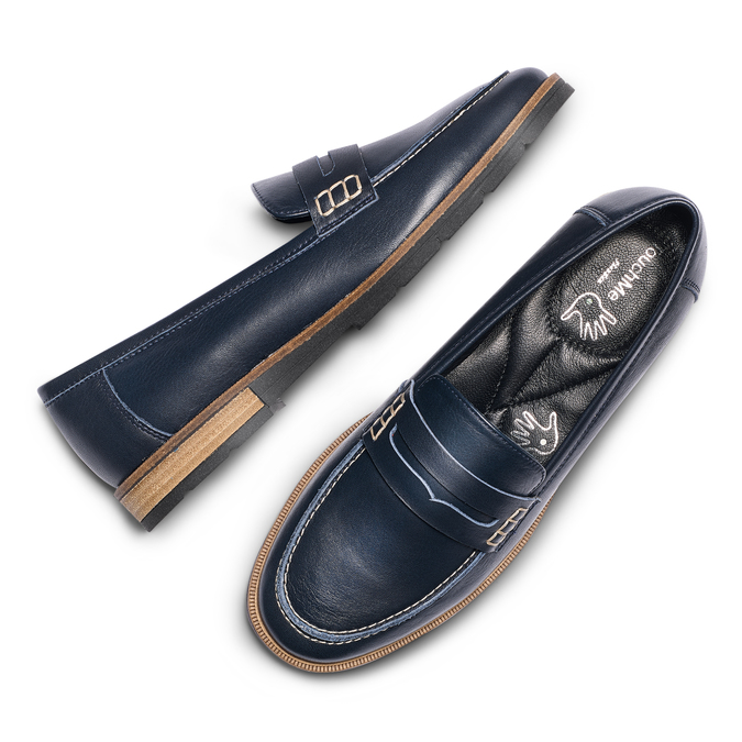 Women's shoes bata-touch-me, Bleu, 514-9198 - 26
