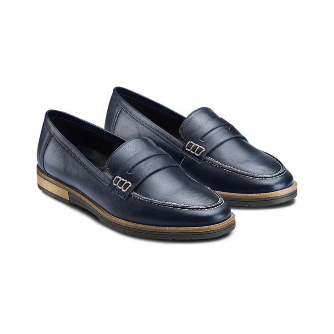 Women's shoes bata-touch-me, Bleu, 514-9198 - 16