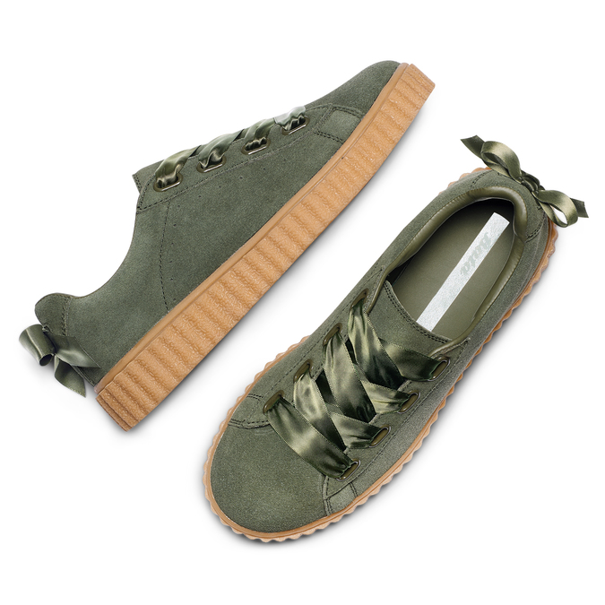 Women's shoes bata, Vert, 543-7415 - 26